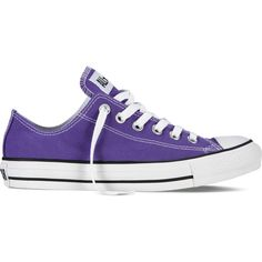 Converse Chuck Taylor All Star Fresh Colors – electric purple Sneakers ($40) ❤ liked on Polyvore featuring shoes, sneakers, converse, electric purple, converse sneakers, star sneakers, low top, purple sneakers and converse footwear