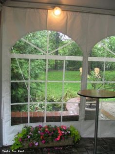 Cathedral Tent Windows