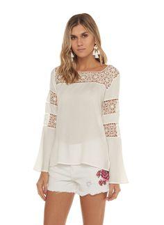 Blusa Pilar - lelis - #blusas #camisasmujer #blusa #modelosdeblusas #blusasmujer #blusasdemoda #blusaselegantes #blusasdeseda #blusasdefiesta #blusasdemujer #camisasdemujer #blusasdemoda #camisablancamujer #blusasdevestir #blusasparadama