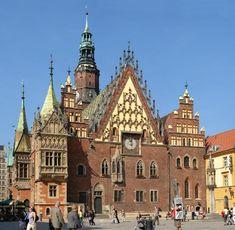 Gotisches Rathaus in Breslau, der Giebel war Vorbild für das Zeitzer Rathaus