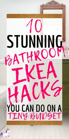Get Your Dream Bathroom (On A Budget) These IKEA bathroom hacks will show you how you can easily transform your bathroom on a budget! The best IKEA hacks for your bathroom organization & decor! Bad Hacks, Hacks Diy, Home Hacks, Home Decor Hacks, Ikea Hack Bathroom, Budget Bathroom, Bathroom Organization, Bathroom Ideas, Ikea Bathroom Furniture
