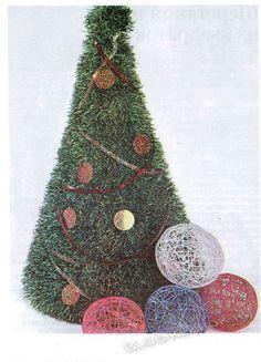 Вязанная елка-4 Christmas Bulbs, Knitting, Holiday Decor, Home Decor, Noel, Decoration Home, Christmas Light Bulbs, Tricot, Room Decor