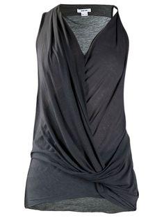 Helmut Lang drape front top in black