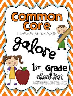 Common Core GALORE {1st grade checklists for Math and Language Arts bundled together!}