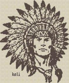 Bonsoir mes amies a la demande d une croipinette je vous ai fais une grille Indien voici le modèle la grille LA bisous