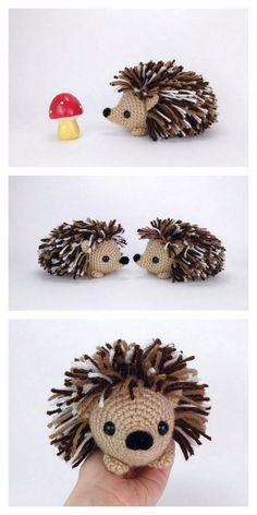 Cute Crochet, Crochet Crafts, Crochet Toys, Crochet Projects, Animal Knitting Patterns, Crochet Amigurumi Free Patterns, Crochet Hedgehog, Crochet Animals, Creations