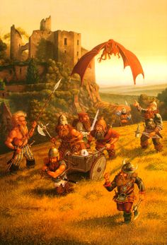 Dwarfs against a Dragon