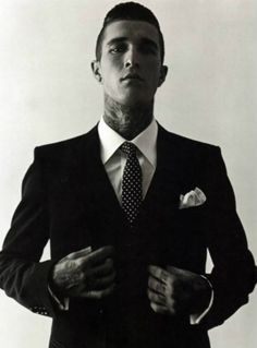 Men with tattoos and nice suits make my heart flutter.    James Edward Quaintance you are a fine specimen.
