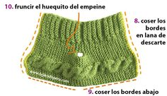 Cómo tejer botitas con trenzas en dos agujas o palitos para bebés Knitting Stitches, Baby Knitting, Crochet Baby, Knit Crochet, Bebe Baby, Baby Boy, Baby Candy, Knit Baby Booties, Knit Shoes