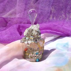 Spell Bottle Success Spell Rhinestone Decor by mystic2awesome