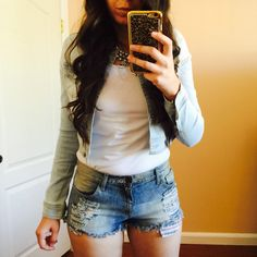 Curvy Outfit Ideas   Petite Outfit Ideas   Plus Size Fashion   Summer Fashion   OOTD   Professional Casual Chic Fashion and Style Inspiration   How to Style A Jean Jacket Featuring AMIclubwear