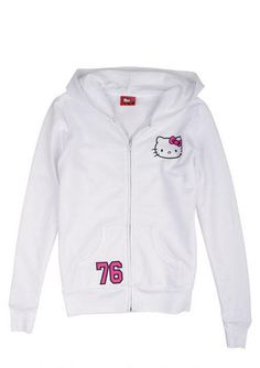 Hello Kitty 76 Hoodie White