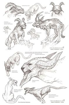 Drawing reference animals concept art 22 ideas for 2019 Monster Concept Art, Fantasy Monster, Monster Art, Monster Drawing, Mythical Creatures Art, Alien Creatures, Mythological Creatures, Creature Drawings, Animal Drawings