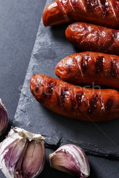 Buy Grilled sausage by yekostock on PhotoDune. Grilled sausage on the table Grilled Sausage, Grilled Meat, Barbecue Recipes, Grilling Recipes, Chorizo, Barbecue Restaurant, Food Poster Design, Everyday Food, Food Pictures