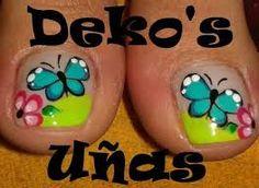 Imagen relacionada Cute Toe Nails, Cute Nail Art, Easy Nail Art, Love Nails, Pretty Nails, Fingernail Designs, Toe Nail Designs, Nail Polish Designs, Pretty Nail Designs