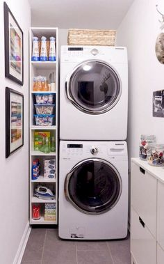 55 Best Small Laundry Room Photo Storage Ideas (16)…