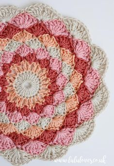 Lululoves Crochet Podcast Episode 22 | Crochet Mandala Simple Embroidery, Paper Embroidery, Embroidery Kits, Crochet Mandala, Crochet Doilies, Knitting Projects, Crochet Projects, Crochet Designs, Crochet Patterns