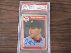 1986 Fleer # 345 Roger Clemens Autograph / Signed Card PSA DNA Boston Red Sox