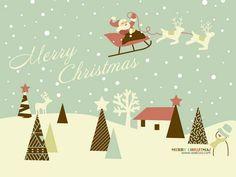 Hd widescreen christmas art : christmas design and christmas Retro Christmas, Vintage Christmas Cards, Christmas Design, Christmas Art, Christmas Cover, Christmas Drawing, Magical Christmas, Christmas Ideas, Comic Style