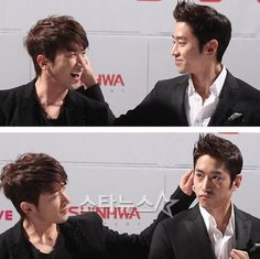 Minwoo&Eric the handsome brothers aka E-CEO & M-CEO.
