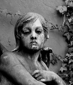 unusual expression for cemetery art...
