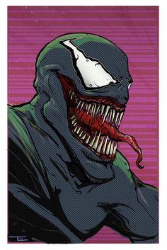 Venom, Alexander Tellalis on ArtStation at https://www.artstation.com/artwork/a0rD8