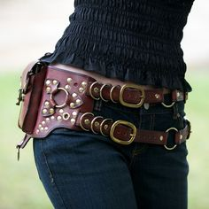 Steampunk holster style belt great for carrying your cell phone!