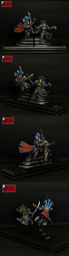 Alpharius a Omegon Primarchů maloval na provize! Warhammer Armies, Warhammer 30k, Warhammer Fantasy, Miniaturas Warhammer 40k, Chaos 40k, The Horus Heresy, Fantasy Miniatures, Minis, Color Schemes