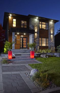 New House Front Yard Modern 67 Ideas Front Yard Garden Design, Small Front Yard Landscaping, Modern Landscaping, Yard Design, Landscaping Ideas, Modern Landscape Design, Modern House Design, Modern Front Yard, Rustic Home Design