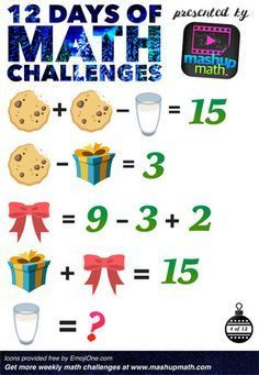 Are You Ready for 12 Days of Holiday Math Challenges? Math For Kids, Fun Math, Math Games, Math Activities, Brain Teasers For Kids, Math Talk, Math Challenge, Christmas Math, Christmas Writing