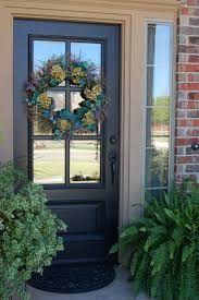 Image result for front door color for orange brick house                                                                                                                                                     More