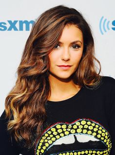 Nina Dobrev visits the SiriusXM Studios on August 4, 2014 in New York City.