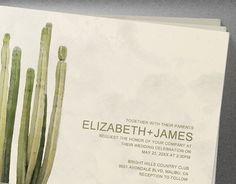 Country Cactus Wedding Invitations  Invites  by InvitationSnob