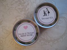 Wedding Favor Mint Tins Engagement Party Favors Mint by Kbettega, $2.00