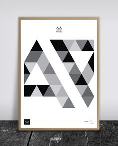 Poster Aarhus Tri-Letters - BUUS Works - Accessorize your Home