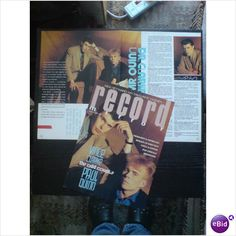 Erasure - The Assembley Clarke & Quinn 2 page feature and cover Record Mirror