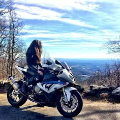 Can't decide if which I like more. The woman, the bike or the scenery