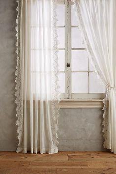 Anthropologie Eyelet-Trimmed Curtain