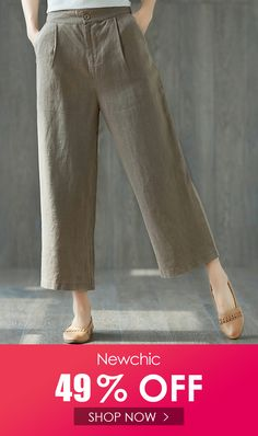 Pure Color Wide Leg Pockets Elastic Waist Casual Pants is necessary for cold weather, NewChic will show cheap trendy women Pants & Capris for you. Republic Of The Congo, Wide Leg Pants, Cold Weather, Casual Pants, Elastic Waist, Shop Now, Capri, Pants For Women, Pure Products