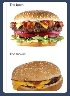 The Book vs. The Movie: Hamburger Style