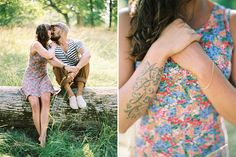 Engagement Session ideas #engagement #photography Ideas for engagement session outfits for the cool couple. #tattoo