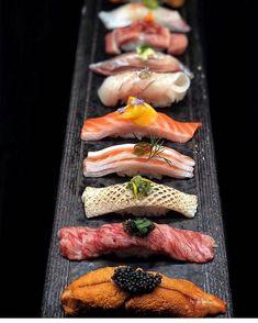 Omakase Sushi posted by Chef Leesansushi via the app - the culinary world in your pocket Sushi Co, Sashimi Sushi, Sushi Japan, Sushi Recipes, Asian Recipes, Japanese Food Sushi, Sushi Time, Antipasto, Food Presentation