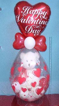 Teddy Bear in a balloon Gift in a Balloon Stuffed animal in a balloon
