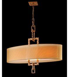 Troy Lighting Link 4 Light Pendant Island in Bronze Leaf F2878 #lighting