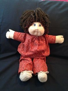 1984 CABBAGE PATCH KID BROWN HAIR & EYES 2 DIMPLES JESMAR SPAIN SIGNED ON TUSH #Dolls