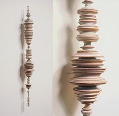 """Tom Lauerman, Phrase (with detail), 2004, ceramic, 8""""x8""""x33"""" by TelegraphArt, via Flickr"""