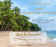 Starting September 1st you can get your kit for ONLY $99 and earn a trip to Bahamas Contact me to join my TEAM! www.mydamselpro.net/eileenmontoya