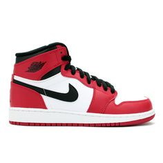 AIR JORDAN 1 RETRO HIGH OG GS (WHITE/VARSITY RED-BLACK)
