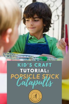 These popsicle stock catapults are sooo fun for kids! It's all stuff you have around the house and you can make them in minutes, but kids will play with them for a long time. Check it out. Science Activities For Kids, Cool Science Experiments, Party Activities, Stem Activities, Easy Toddler Crafts, Crafts For Kids, Parenting Teens, Parenting Hacks, Popsicle Stick Catapult