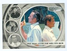 Roger Moore and Christopher Lee James Bond trading card 40th anniversary #30 Man With The Golden Gun @ niftywarehouse.com #NiftyWarehouse #Bond #JamesBond #Movies #Books #Spy #SecretAgent #007